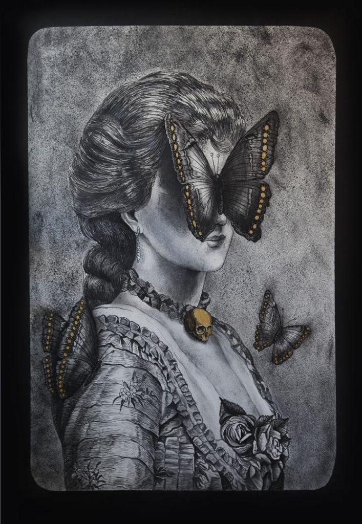 Λεωνίδας Γιαννακόπουλος  – lady B, 2017, 100x150cm, acrylic on canvas